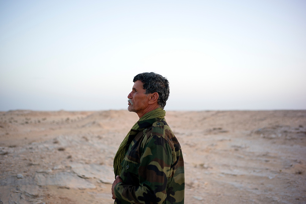 Western sahara/Guerguerat 2016-10-18<br /> Salha Moulay, 65 years old, came to the Guerguerat area together with a group of Polisario soldiers on August 17th, armed and prepared for the worst. &ldquo;At that time I was quite sure they would shoot at us. It was the first time since 1989 I cocked my gun&rdquo;.