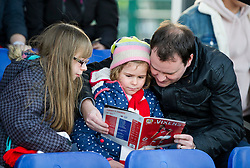 Bristol City Women supporters - Mandatory by-line: Paul Knight/JMP - 28/10/2017 - FOOTBALL - Stoke Gifford Stadium - Bristol, England - Bristol City Women v Reading Women - FA Women's Super League