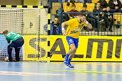 Kristian Beciri of RK Celje Pivovarna Lasko during handball match between RK Celje Pivovarna Lasko and SG Flensburg Handewitt in VELUX EHF Champions League, on November 26, 2017 in Dvorana Zlatorog, Celje Slovenia. Photo by Ziga Zupan / Sportida