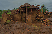 A house affected by a flood of mud in Paracatu de Baixo, one of the districts of Mariana, a brazilian city in the state of Minas Gerais. On november 5th, a mining waste dam failed causing a flood of mud.