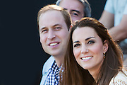 Duke and Duchess of Cambridge visit Taronga Zoo, Sydney , Australia. Prince William, Duke of Cambridge and Catherine, Duchess of Cambridge enjoy watching a bird display, 20 April 2014