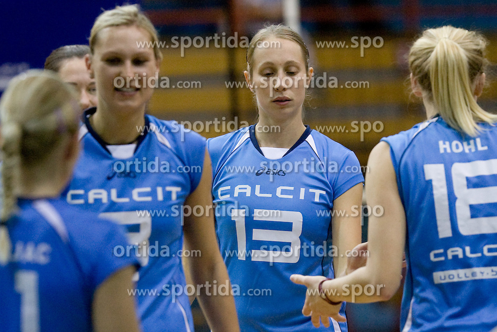 Jelena Strel Kosmac during volleyball match between Calcit Volleyball and A. Linz-Steg in Mevza league on October 23, 2010 at Sport Halli, Kamnik, Slovenia. (Photo By Matic Klansek Velej / Sportida.com)