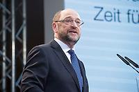 29 JAN 2016, BERLIN/GERMANY:<br /> Martin Schulz, SPD, Kanzlerkandidat, haelt seine Vorstellungsrede, Vorstellung von Schulz als Kanzlerkandidat der SPD zur Bundestagswahl, nach der Nominierung durch den SPD-Parteivorstand, Willy-Brandt-Haus<br /> IMAGE: 20170129-01-046