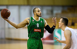 Jordan Morgan of Petrol Olimpija during basketball match between KK Ilirija and KK Petrol Olimpija in 10th Round of Nova KBM Basketball League 2017/18, on December 17, 2017 in Hala Tivoli, Ljubljana, Slovenia. Photo by Vid Ponikvar / Sportida