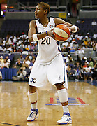 Washington Mystics guard Alana Beard looks to pass during this WNBA game between the Mystics and the Storm at the Verizon Center in Washington, DC. The Storm won 73-71.  July 23, 2006  (Photo by Mark W. Sutton)