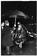 Margaret Thatcher arriving at the Winter Ball, Grosvenor House, Park Lane, 1984.