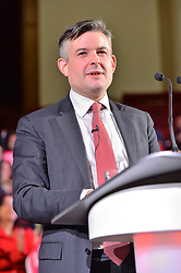 © Licensed to London News Pictures. 25/01/2018. London, UK. JONATHAN ASHWORTH MP, Shadow Health Secretary makes a speech at a rally to demand the government introduces an emergency budget for the NHS to end the winter crisis. Photo credit: Ray Tang/LNP