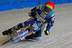 13.03.2016, Assen, BEL, FIM Eisspeedway Gladiators, Assen, im Bild Stefan Pletschacher (GER) // during the Astana Expo FIM Ice Speedway Gladiators World Championship in Assen, Belgium on 2016/03/13. EXPA Pictures &copy; 2016, PhotoCredit: EXPA/ Eibner-Pressefoto/ Stiefel<br /> <br /> *****ATTENTION - OUT of GER*****