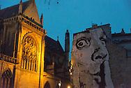 France. paris. 4th district. Beaubourg museum main square.