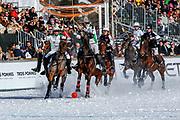 2018, Januari 26. St. Moritzersee, St. Moritz. Snowpolo World Cup 2019. Op de foto: Team Badrutt's Palace vs Team Azerbaijan