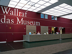 Entrance and reception desk at Wallraf Richartz museum in Cologne Germany