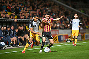 Cristian Montano of Port Vale FC and Zeli Ismail of Bradford City challenge for the ball during the EFL Sky Bet League 2 match between Bradford City and Port Vale at the Utilita Energy Stadium, Bradford, England on 22 October 2019.