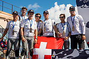 The Great Sound, Bermuda, 21st June 2017, Red Bull Youth America's Cup Finals. Team Tilt of Switzerland take third place in the Regatta.