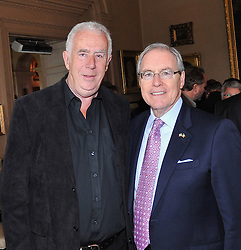 Pictured at the official launch of the exhibition 'Westport House and the Famine' Lady Sligo's Letters were Brendan Graham Author and Composer with US Ambassador to Ireland Kevin O'Malley.<br /> Pic Conor McKeown