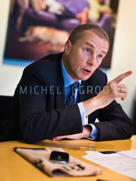 Marcel Smits, CFO at KPN in Den Haag, The Netherlands on 24 September, 2008.  (Photo by Michel de Groot)