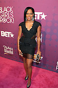 October 13, 2012- Bronx, NY: Actress Regina King at the Black Girls Rock! Awards Red Carpet presented by BET Networks and sponsored by Chevy held at the Paradise Theater on October 13, 2012 in the Bronx, New York. BLACK GIRLS ROCK! Inc. is 501(c)3 non-profit youth empowerment and mentoring organization founded by DJ Beverly Bond, established to promote the arts for young women of color, as well as to encourage dialogue and analysis of the ways women of color are portrayed in the media. (Terrence Jennings)