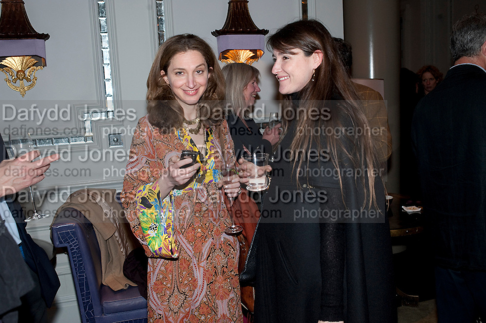 ALBA ARIKHA; ORTENSIA VISCONTI, Henry Porter hosts a launch for Songs of Blood and Sword by Fatima Bhutto. The Artesian at the Langham London. Portland Place. 15 April 2010. *** Local Caption *** -DO NOT ARCHIVE-© Copyright Photograph by Dafydd Jones. 248 Clapham Rd. London SW9 0PZ. Tel 0207 820 0771. www.dafjones.com.<br /> ALBA ARIKHA; ORTENSIA VISCONTI, Henry Porter hosts a launch for Songs of Blood and Sword by Fatima Bhutto. The Artesian at the Langham London. Portland Place. 15 April 2010.