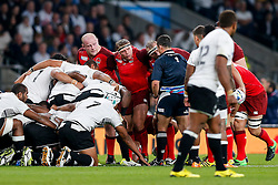 England Hooker Tom Youngs looks on at a scrum - Mandatory byline: Rogan Thomson/JMP - 07966 386802 - 18/09/2015 - RUGBY UNION - Twickenham Stadium - London, England - England v Fiji - Rugby World Cup 2015 Pool A.