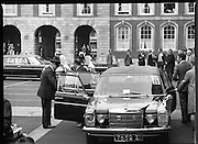 EEC Leaders Meet At Dublin Castle.   (N4)..1979..29.11.1979..11.29.1979..29th November 1979..At Dublin Castle the leaders of the countries within the EEC held a summit conference to discuss issues which would affect the EEC over the forthcoming years..Denmark's Mr Anker Joergensen is photographed as he arrives at Dublin Castle for the EEC conference.