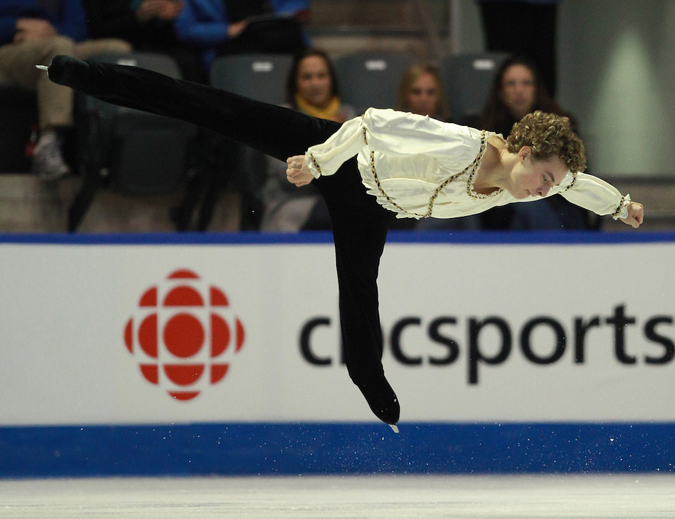 20101029 -- Kingston, Ontario --  Adam Rippon of the United States skates his short program at the 2010 Skate Canada International in Kingston, Ontario, Canada, October 29, 2010.<br /> AFP PHOTO/Geoff Robins