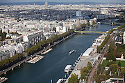 La Seine River, Paris, France.