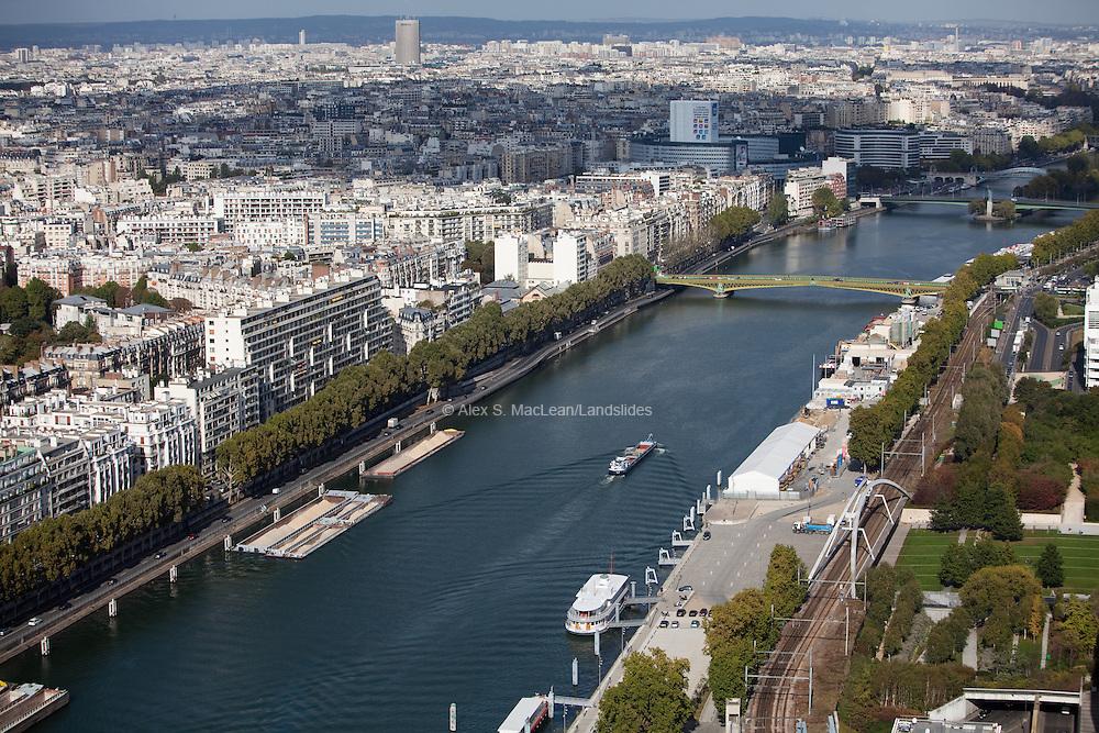 La Seine River, Paris, France.