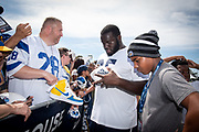 Aug 4, 2019, Irvine, CA, USA; Los Angeles Rams defensive tackle Boogie Roberts (65) during training camp at UC Irvine. (Ed Ruvalcaba/Image of Sport)