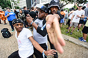 DETROIT – MAY 28: Break dancers during the Movement Electronic Music Festival Sunday, May 28, 2017 at Hart Plaza in downtown Detroit. (Photo by Bryan Mitchell)