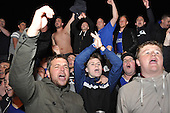Fans outside Jamie Vardys House after Leicester Win the League