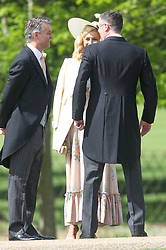 Guests arrive at Pippa Middletons wedding in Englefield Berkshire<br />