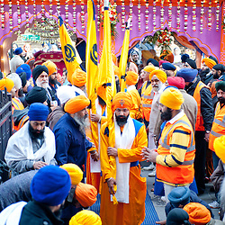 London, UK - 7 April 2013: Tens of thousands of Sikhs gather in Southall, also known as 'Little India', to celebrate Nagar Kirtan.
