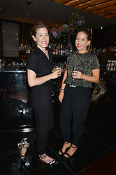 Left to right, BECKY SUNSHINE and CHARLIE MURRAY at a dinner at The Bulgari Hotel, 171 Knightsbridge to celebrate The London Design Festival on 13th September 2016.