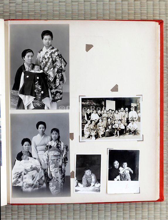 open page of a family photo album Japan Asia 1960s