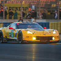 #64, Corvette Racing-GM, Chevrolet Corvette C7.R, driven by: Oliver Gavin, Tommy Milner, Marcel Fassler, on 18/06/2017 at the 24H of Le Mans, 2017