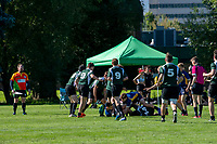 KELOWNA, BC - JULY 26: Team BC U15 takes on Team Saskatchewan during the Rugby Western Canadian Conference Championships at Parkinson Fields on July 26, 2019 in Kelowna, Canada. (Photo by Marissa Baecker/Shoot the Breeze)