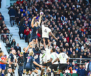 England loses a line out in the second half during the Autumn International Series match between England and Fiji at Twickenham, Richmond, United Kingdom on 19 November 2016. Photo by Ian  Muir.