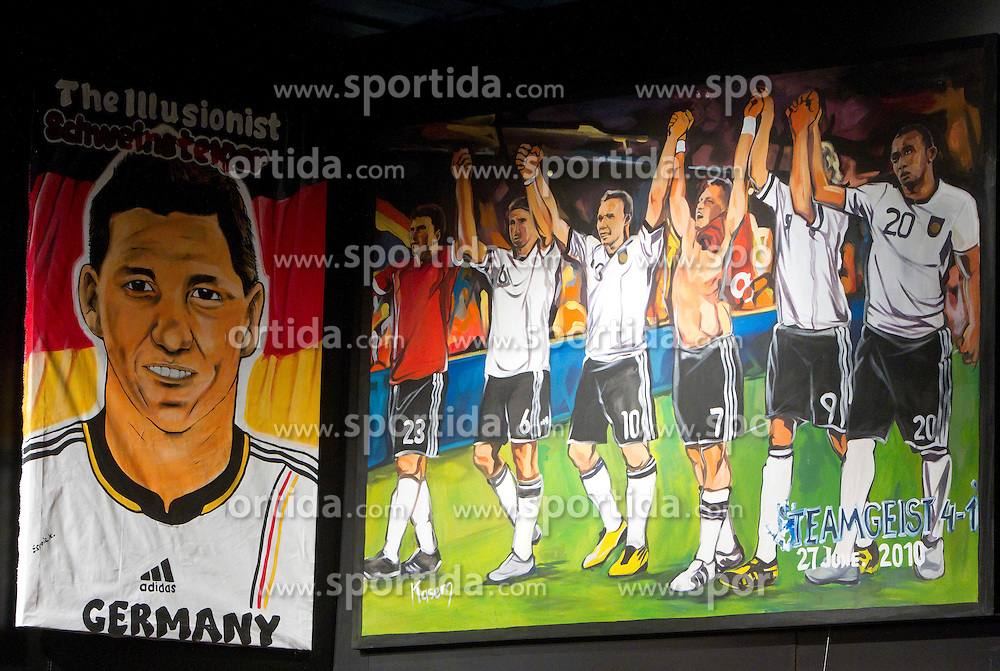 Paintings done by South African artists during the 2010 FIFA World Cup at the adidas Jo'bulani Centre in Sandton on July 1, 2010 in Johannesburg, South Africa. The portraits are available to buy through an eBay auction on www.ebay.co.uk/adidas46664auction. All proceeds raised will go to Nelson Mandela's 46664 Foundation. (Photo by Vid Ponikvar / Sportida)