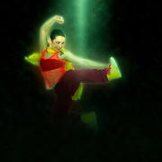 Digitally enhanced image of a Female Hip hop Dancer