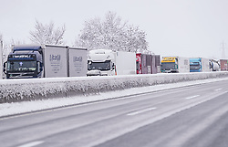 THEMENBILD - Stau auf der A12 Inntalautobahn, aufgenommen am 10. Jaenner 2019 in Woergl, Oesterreich // Traffic jam on the A12 Inntalautobahn, Woergl, Austria on 2019/01/10. EXPA Pictures © 2019, PhotoCredit: EXPA/ JFK