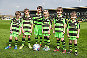 FGR mascots during the EFL Sky Bet League 2 match between Forest Green Rovers and Chesterfield at the New Lawn, Forest Green, United Kingdom on 21 April 2018. Picture by Shane Healey.