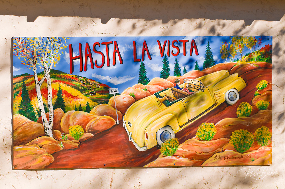 Mural of a car on the Burr Trail, Boulder, Grand Staircase-Escalante National Monument, Utah