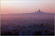 A view of the Umaid Bhavan at sunrise in Jodhpur.