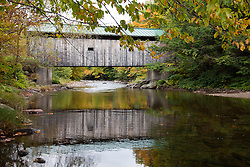 Belvidere, Vermont: The Morgan covered bridge.<br /> From Wikipedia: The Morgan Covered Bridge, also known as the Upper Covered Bridge is a wooden covered bridge that crosses the Lamoille River in Belvidere, Vermont, on Morgan Bridge Road. It was listed on the National Register of Historic Places in 1974.  The bridge is of Queen post design built by Lewis Robinson, Charles Leonard and Fred Tracy.