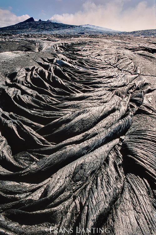 Fresh lava flow (aerial), Hawaii Volcanoes National Park, Hawaii
