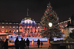 Views at the opening of the 2012 Somerset House Ice Rink on 15th November 2012.