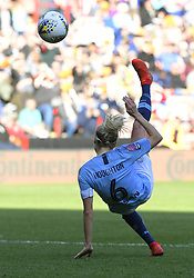 February 23, 2019 - Sheffield, England, United Kingdom - Steph Houghton (Manchester CIty) attempts a backward overhead shot at goal during the  FA Women's Continental League Cup Final  between Arsenal and Manchester City Women at the Bramall Lane Football Ground, Sheffield United FC Sheffield, Saturday 23rd February. (Credit Image: © Action Foto Sport/NurPhoto via ZUMA Press)