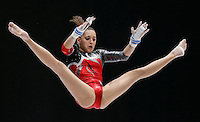 Larisa Andrea Iordache of Romania competes on the Uneven Bars during the women's all around final at the Artistic Gymnastics World Championships in Antwerp, Belgium, 04 October 2013.
