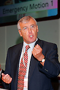 Tony Woodley, General Secretary Transport and General Workers Union speaking at the TUC 2005 ...© Martin Jenkinson, tel 0114 258 6808 mobile 07831 189363 email martin@pressphotos.co.uk. Copyright Designs & Patents Act 1988, moral rights asserted credit required. No part of this photo to be stored, reproduced, manipulated or transmitted to third parties by any means without prior written permission