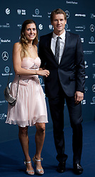 14.11.2011, Hotel Grand Tirolia, Kitzbuehel, AUT, Verleihung Laureus Medienpreis 2011, Roter Teppich im Bild Jens Lehmann mit Ehefrau onny // at the red carpet of the Laureus Media Award 2011 at the Grand Hotel Tirolia in Kitzbuehel, Austria on 14/11/2011. EXPA Pictures © 2011, PhotoCredit: EXPA/ Johann Groder