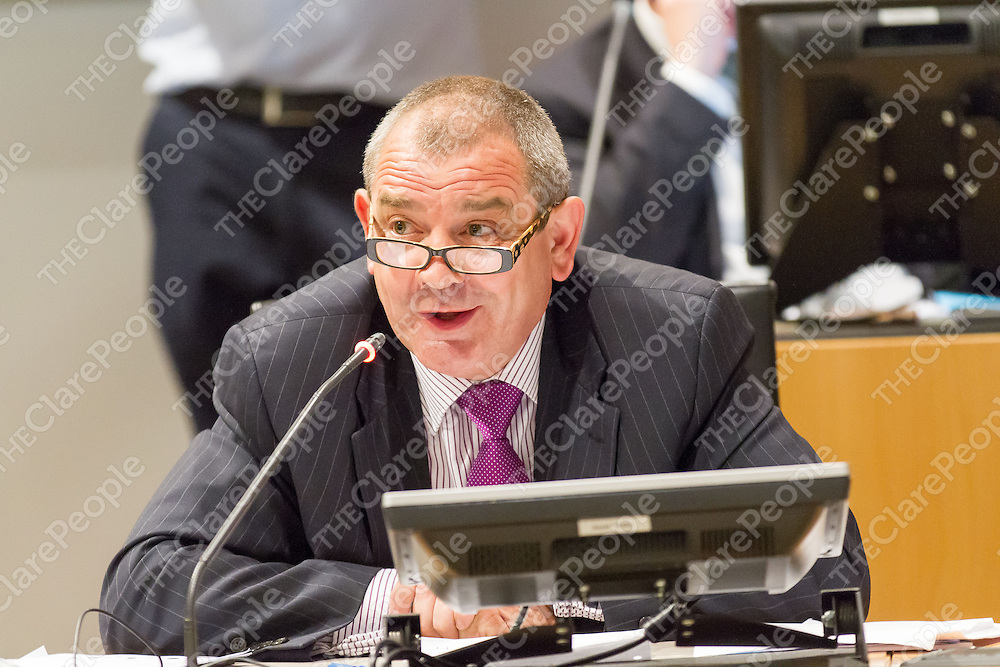 Cllr. Tony O'Brien at the 1st Meeting of the Clare Co Council